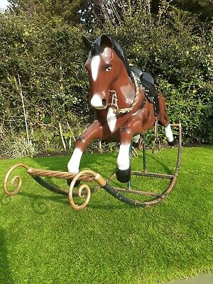 Large Adult Thoroughbred Vintage Fibreglass Rocking Horse. Delivery  • 1,900£