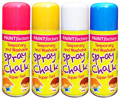 4 Temporary And Washable Spray Chalk Play Ground Wedding Car Party  Arts Sport • 7.99£