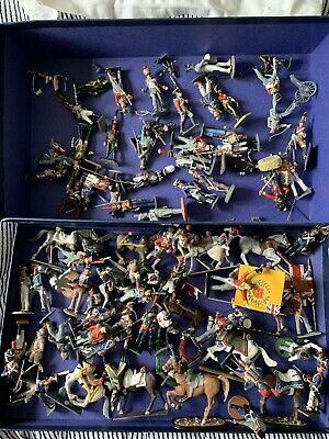 Hand Painted Lead Soldiers Lot Of Appr 80 Pieces  • 139.99£