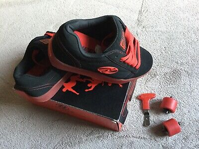 Heelys Trainers - UK Size 3 - Black & Red Wheeled Shoes - Boxed With Tool • 14.99£