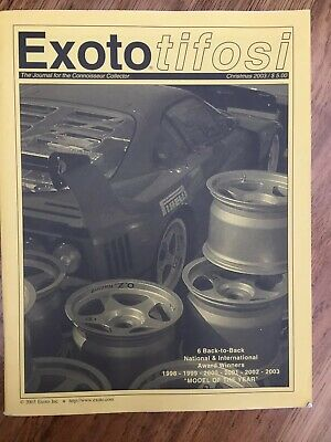 Exoto Tifosi Christmas 2003 Catalogue The Journal For The Connosseur Collector • 24.95£