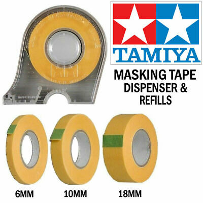 Tamiya Masking Tape 6mm - 10mm - 18mm Dispenser Or Refills - Choose Your Size • 4.85£