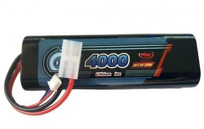 Rechargeable Battery 7.4V 4000mAh  LiPo Pack Vapextech Rounded Hard Case Tamiya • 20.95£