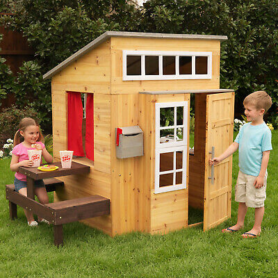 Kidkraft Modern Outdoor Playhouse | Kids Wooden Play House  • 399£