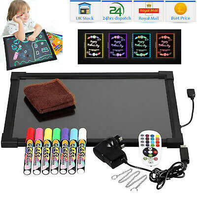 Sensory LED Light Up Drawing Writing Board Special Needs Toy Autism ASD ADD ADHD • 29.99£