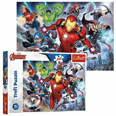 Trefl 200 Piece Kids Large Disney Marvel The Avengers Mighty Jigsaw Puzzle NEW • 6.99£