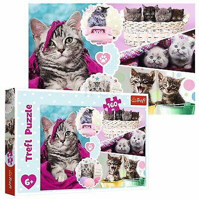 Trefl 160 Piece Kids Large Cute And Cuddly Lovely Kittens Cats Jigsaw Puzzle NEW • 6.49£