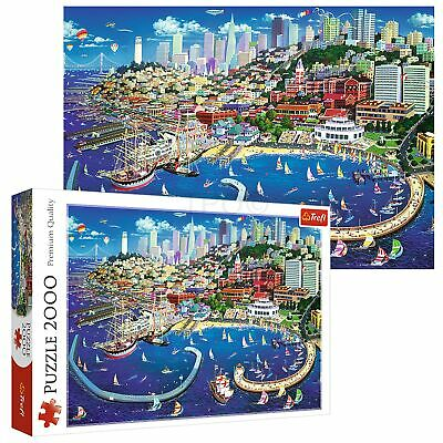 Trefl 2000 Piece Adult Large San Francisco Bay Sea Ships City Jigsaw Puzzle NEW • 11.49£