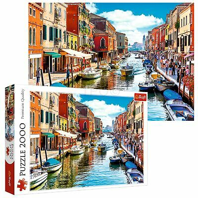 Trefl 2000 Piece Adult Large Murano Island Venice Canal Boat Jigsaw Puzzle NEW • 11.49£
