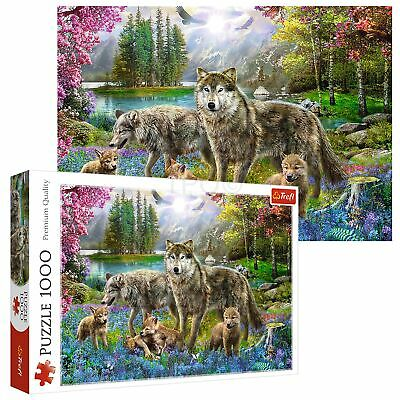 Trefl 1000 Piece Adult Large Family Of Lupine Wolves Play Fun Jigsaw Puzzle NEW • 7.99£