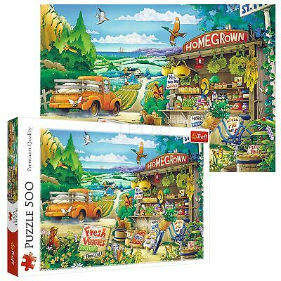 Trefl 500 Piece Kids Large Morning In The Countryside Scene Floor Jigsaw Puzzle • 8.49£