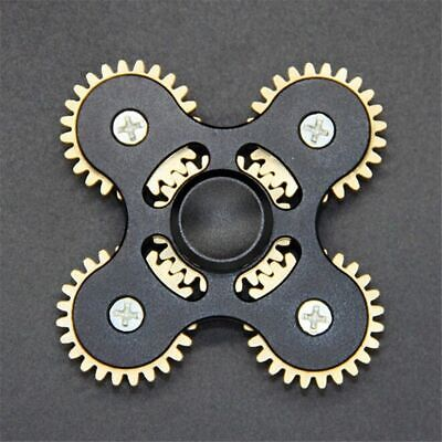 Hand Spinner Metal Tri Fidget 5 Gear Link Desk Toy Kids Or Adult With Case - NEW • 15.99£