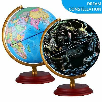 Kids World Globe Transforming Constellation Globe Illuminating Lamp Stars Night • 30.50£