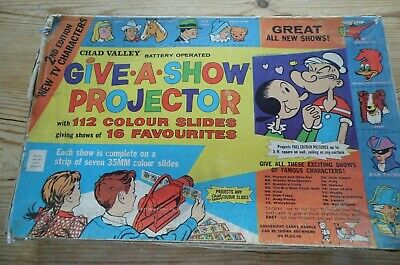 Vintage 1962 Chad Valley Projector & 102 Slides On 15 Strips Collectable • 22£