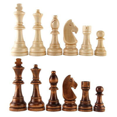 King Chess Pieces Wooden Chess Wooden Piece Toy Plaything International Chess IT • 8.03£