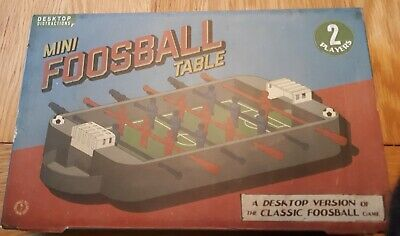 Mini Table Top Foosball Game Football Desk Office Game • 4.99£