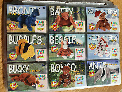 Ty Beanie Babies Collectors/Trading Cards Series 2 EU Complete Set Common Cards • 9.95£