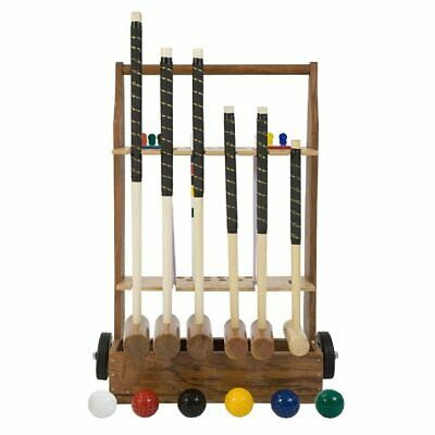 Uber 6 Player Pro Croquet Set With Croquet Stand • 329.90£