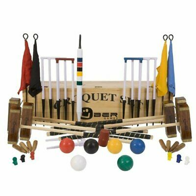 Uber Championship 6 Player Croquet Set With A Wooden Box • 499.90£