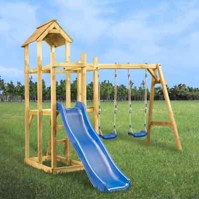 VidaXL Playhouse With Slide Swing Ladder Garden Backyard Outdoor Playset Tower • 288.99£