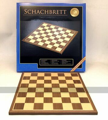 Walnut And Maple Chessboard, 45cm (50mm Squares) • 52.99£