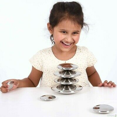 Tickit Sensory Silver Buttons, New, Free Delivery • 45£