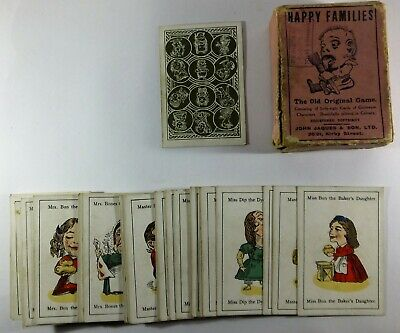 Early Original Vintage Jaques Happy Families Card Game Playing Cards • 50£