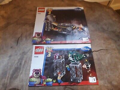 Lego Instructions 7596 Toy Story Trash Compactor Escape Instruction Books 1 + 2 • 4.95£