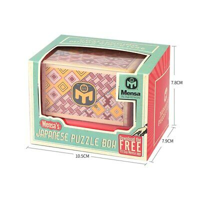 Mensa Japanese Puzzle Box Wooden Magic Compartment Brain Teaser Trick Box • 19.99£