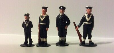 Vintage Rare Plastic Stand Up Sailors Cake Decorations X4 Figures. • 14£