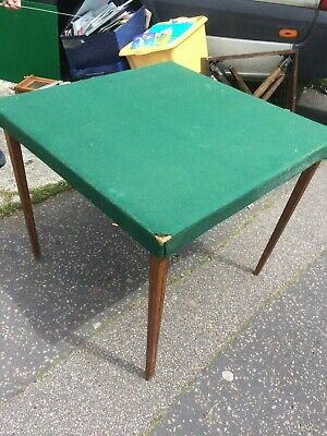 Card Table. Vintage Wooden. Fold Down Legs. Collapsible. Bridge Baize Cards... • 40£