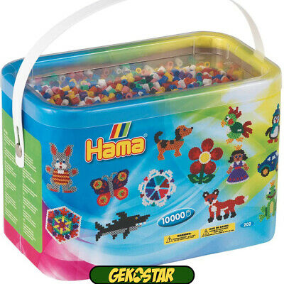 Hama Beads 10,000 Beads In A Bucket • 13.45£