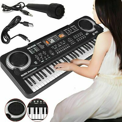 Musical Keyboard Piano 61 Keys Electronic Electric Digital Beginner Kids Set Uk • 9.99£
