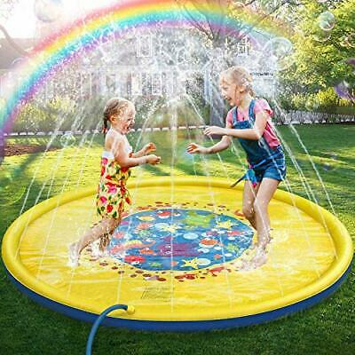 170cm Inflatable Sprinkler Splash Pad Play Mat Water Toys Swimming Pool For Kids • 17.99£