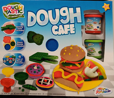 CAFE Kids Play Modelling Clay Dough Moulding Set Shapes Moulds INCLUDES 4 TUBS • 5.75£