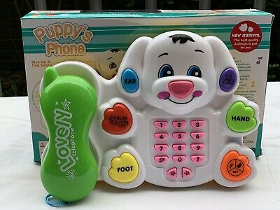 Kids Puppy Phone Set Learning Activities Fun Light Sound Toy Boy & Girl Ideal Uk • 9.99£