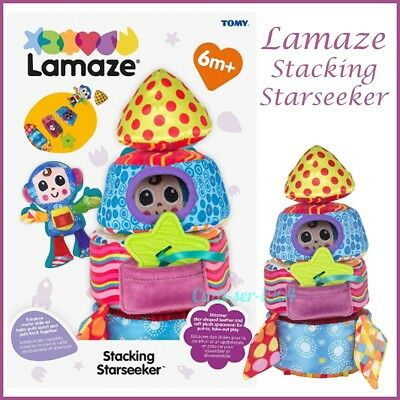 Lamaze Stacking Starseeker Rocket Multi Sensory Plush Baby Toy With Teether NEW • 16.99£