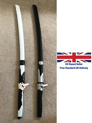 Overwatch Genji Wooden Sword Cosplay Black/White Comic Con Safe With Scabbard • 34.99£
