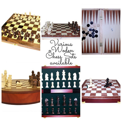 Wooden Chess Sets, Chess Pieces, Small, Large, XL, Luxury, Various Designs  • 54£