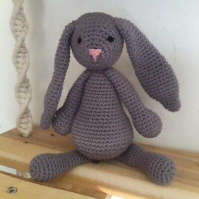 Crocheted Bunny Rabbit Amigarumi  • 12£