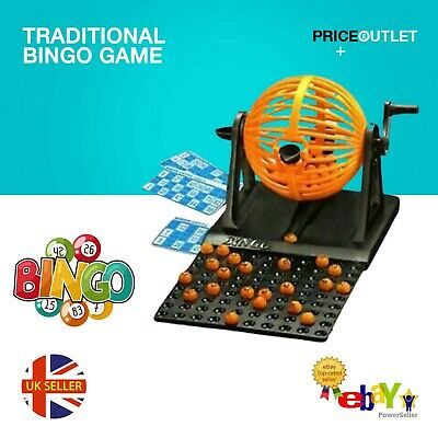 Traditional Bingo Game Family Revolving Ball Dispenser Machine Balls Cards • 7.99£