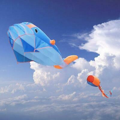 3D Huge Kite Frameless Soft Parafoil Giant Whale Flying Kite Sports Toy Outdoor • 11.69£