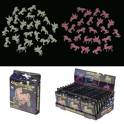 Fun Kids Glow In The Dark Unicorn 24pcs Childrens Night Room Decor Wall Stickers • 6.45£