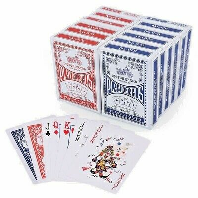 Playing Cards Poker Size Decks Of Professional Plastic Coated Blue/Red Colours • 2.99£