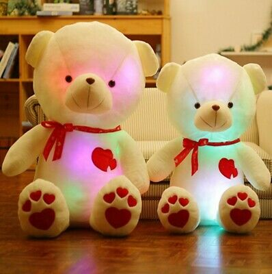 Small & Large Teddy Bear Soft Cuddly Glow Light Up Colour Changing • 8.99£
