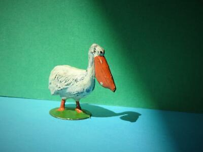 CHARBENS VERY RARE VINTAGE 1930s LARGE SCALE 2  LEAD ZOO SERIES WHITE PELICAN • 33.99£