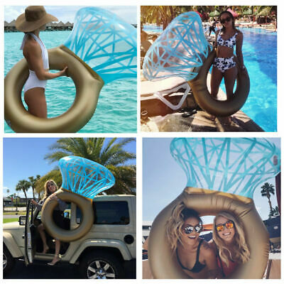 Indoor Giant Inflatable Diamond Engagement Ring Pool Float Summer Swimming Toy • 9.17£