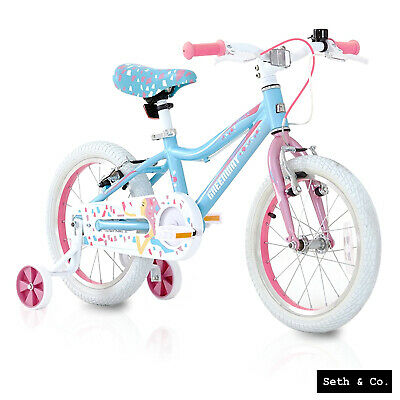 GREENWAY® Kids Bike For Girls Children's Bicycle - 16  Inch - Blue & Pink UK • 124.99£