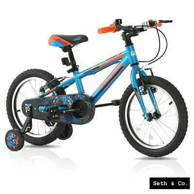 GREENWAY® Kids Bike For Boys Children's Bicycle - 16  Inch - Blue & Orange UK • 139.99£