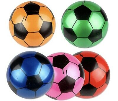 "Inflatable Football 22.5cm / 9"" PVC Ball / Beach / Pool / Party • 2.89£"